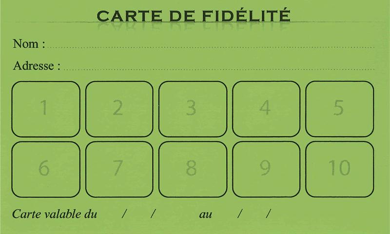 Carte de fidélité restaurant
